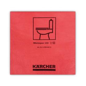 ściereczki z mikrofibry, gładkie włókno, czerwone, 37,5x38cm (10szt) Karcher